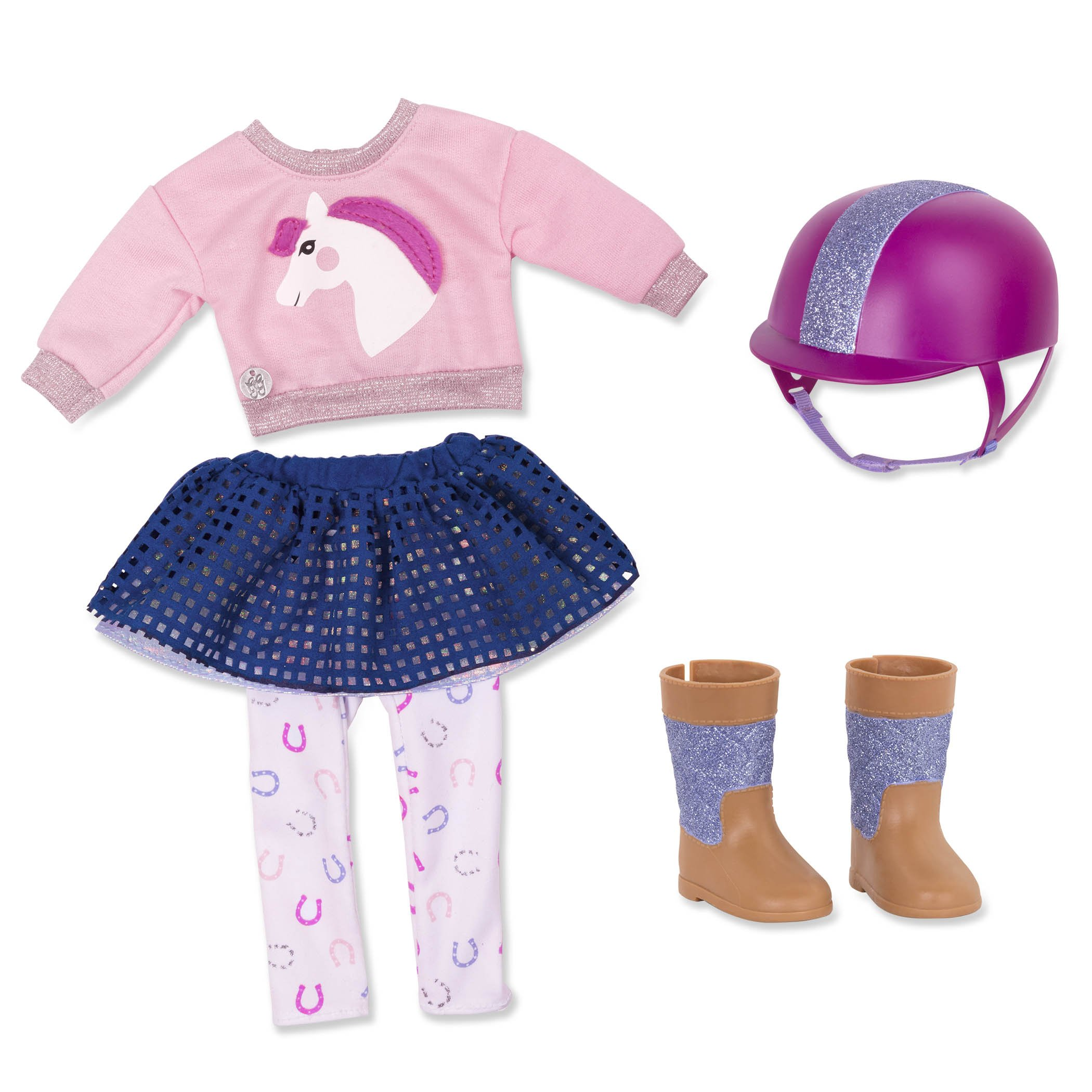 "Glitter Girls by Battat - Gallop & Glow! Outfit -14"" Doll Clothes - Toys, Clothes & Accessories For Girls 3-Year-Old & Up"