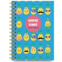 June 2019 - July 2020 Pineapple Pool Party Soft Cover Academic Year Day Planner Calendar Book by Bright Day, Weekly Monthly Dated Agenda Spiral Bound Organizer, 6.25 x 8.25 Inch,