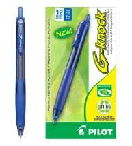 PILOT G-Knock BeGreen Refillable & Retractable Gel Ink Pens, Fine Point, Blue Ink, 12 Count (31507)
