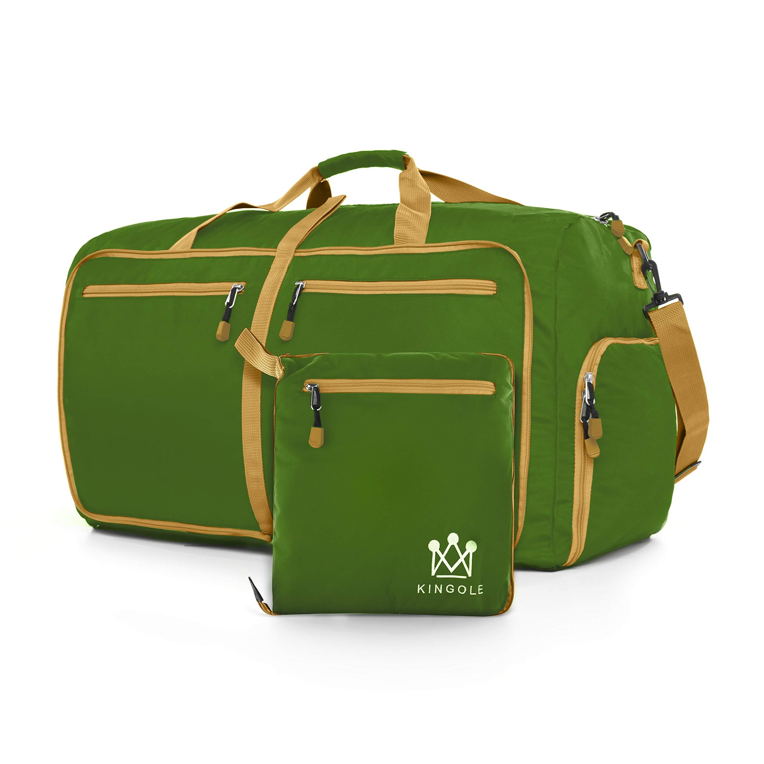"""Travel Duffel Bag Foldable Lightweight For Women & Men YKK Zipper Gym Carry On 23"""""""