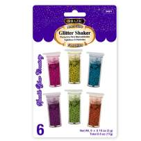 BAZIC 3g/0.10oz. 6 Neon Color Glitter Shaker, Sparkle Powder for Kids Slime Paint Art Nail Skin Halloween Party (Box of 24)