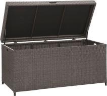 Crosley Furniture CO7300-WG Palm Harbor Outdoor Wicker Storage Bin, Gray