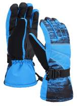 Mens Ski Gloves Touchscreen Waterproof Thinsulate Lining Snowboard Winter Ski Gloves