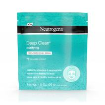 Neutrogena Deep Clean Purifying Hydrating 100% Hydrogel Face Mask, Oil-Free with Seaweed Extract, 1.0 oz (Pack of 12)
