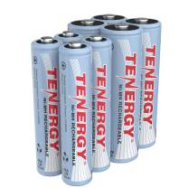 Tenergy High Drain NiMH Rechargeable Battery Combo, 4xAA and 4xAAA Rechargeable Batteries, 8 Pack