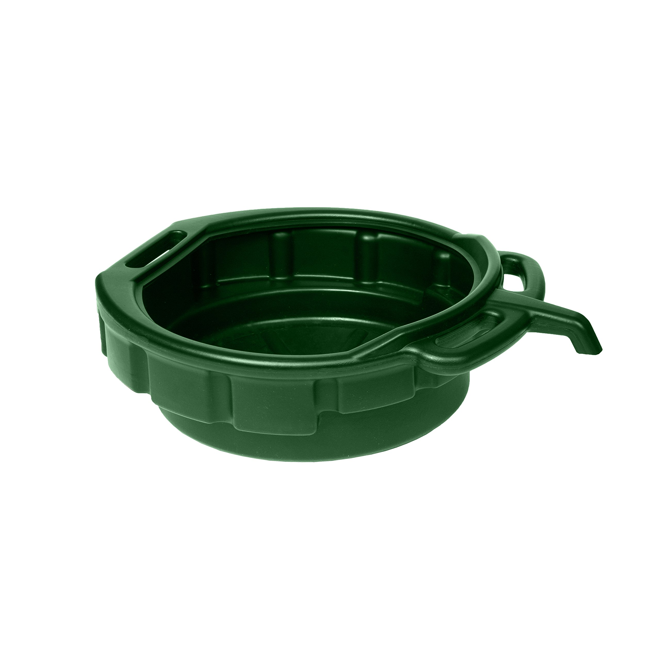 WirthCo 32955 Funnel King Green Oil/Coolant Drain Pan with E-Z Grip Handle and Pour Spout - 4 Gallon
