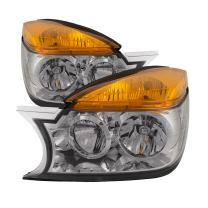 PERDE Compatible with Buick Rendezvous New Chrome Headlights Set With Performance Lens