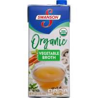 Swanson Organic Broth, Vegetable, 32 oz. Resealable Carton (Pack of 12)