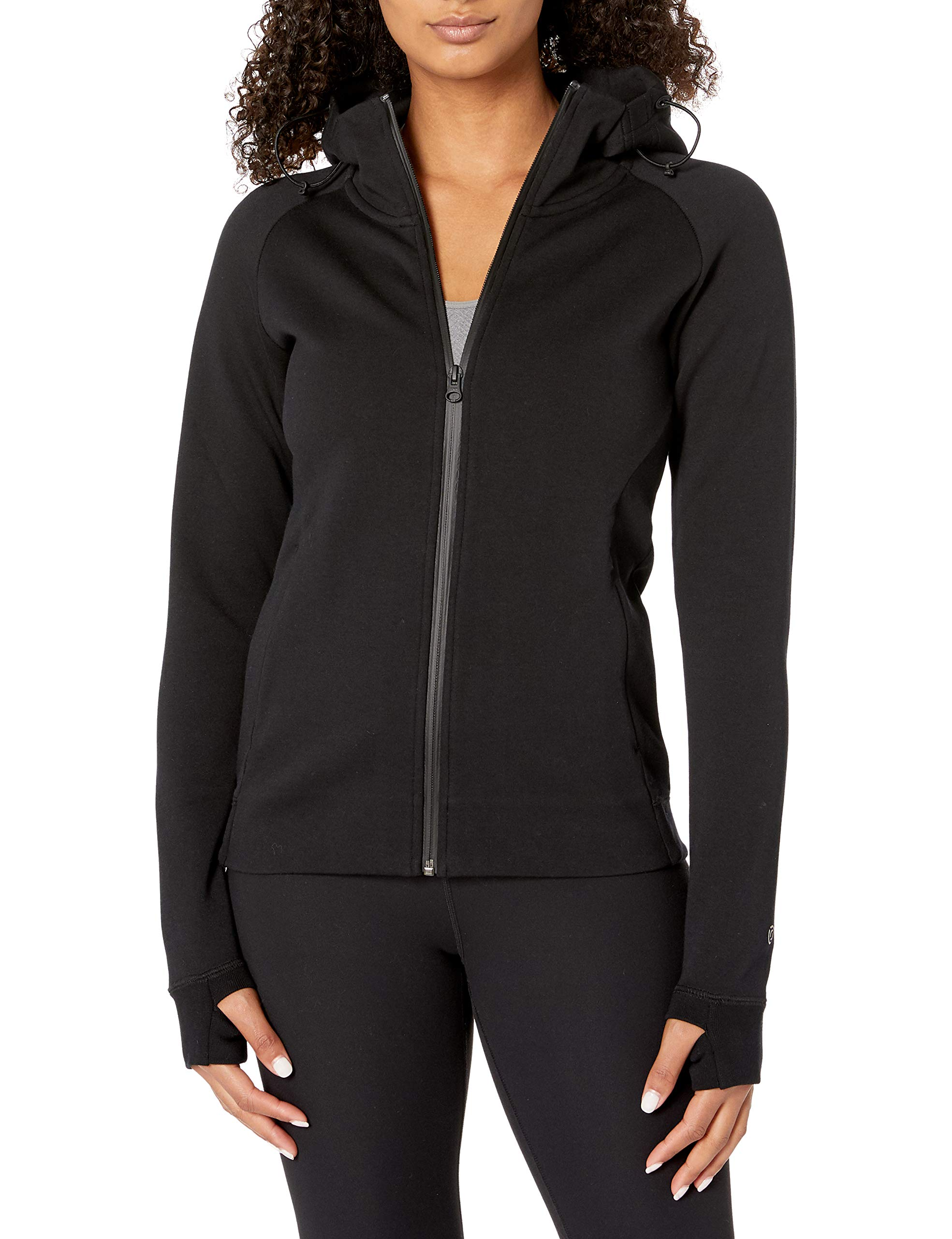 Amazon Brand - Core 10 Women's (XS-3X) Motion Tech Fleece Fitted Full-Zip Hoodie Jacket