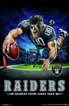 "Trends International NFL Oakland Raiders - End Zone, 22.375"" x 34"", Premium Unframed"