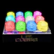 Lit Rose Cubes (12 Pack) Multi Color Liquid Sensor Activated Rose Shape LED Ice Cubes