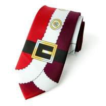 Spring Notion Men's Printed Microfiber Christmas Theme Tie