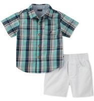 Nautica Baby Boys Shirt with Shorts