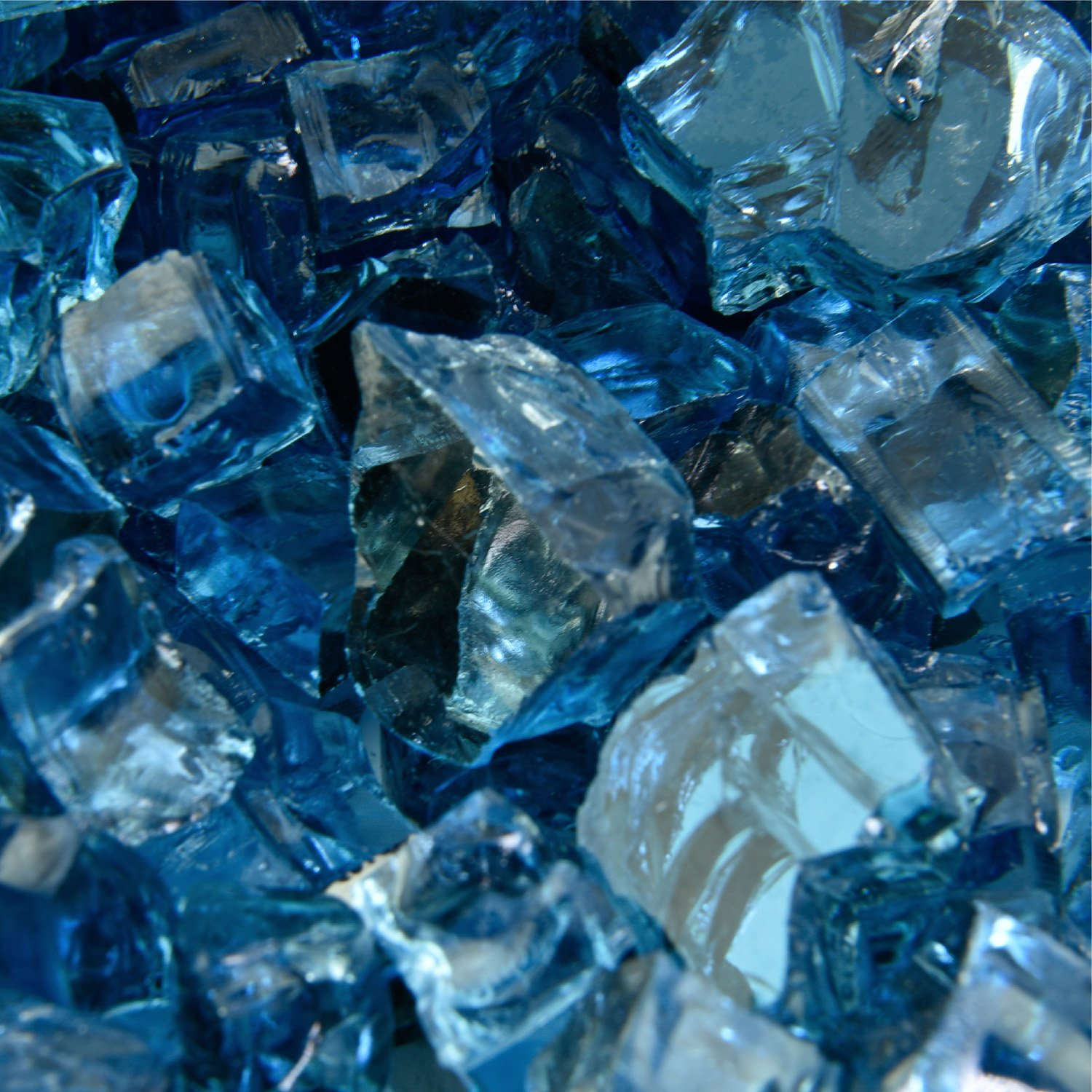 Harbor Mist - Fire Glass for Indoor and Outdoor Fire Pits or Fireplaces | 10 Pounds | 1/2 Inch, Reflective