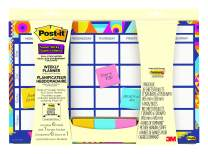 Post-it Weekly Planner with Post-it Super Sticky Full Adhesive Notes to Help Organize and Keep Track of Daily Events, Gradient Watercolor, 17-15/16 in x 11-15/16 in (730-CAL-GRDNT)
