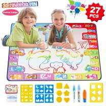 "HOMOFY Aqua Magic Mat Extra Large 30.7"" X 30.7"" Water Doodle Drawing Mat A for Kids Mess Free 7 Rainbow Colors Painting Educational Toys for 2 3 4 5 Year Old Girls Boys Toddlers"