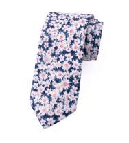 Spring Notion Men's Cotton Printed Floral Skinny Tie