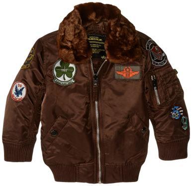 Alpha Industries Boys Little Maverick Flight Jacket