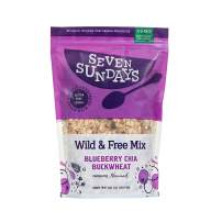 Seven Sundays Wild & Free Blueberry Chia Buckwheat Muesli Cereal {32oz Eco Pack, 1 Count} | Gluten Free | Non GMO | No Refined Sugar