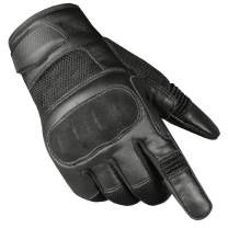 Jackets 4 Bikes Men's Motorcycle Tactical Premium Goat Leather & AirMesh Biker Gloves
