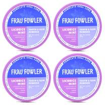 Frau Fowler Natural Oral Care - LICORICE MINT Tooth Powder, 4 Pack, Botanically Clean, Teeth-Whitening, Remineralizing, Fluoride Free, Gluten Free, SLS Free -Restores Enamel and Freshens Breath, 8 oz