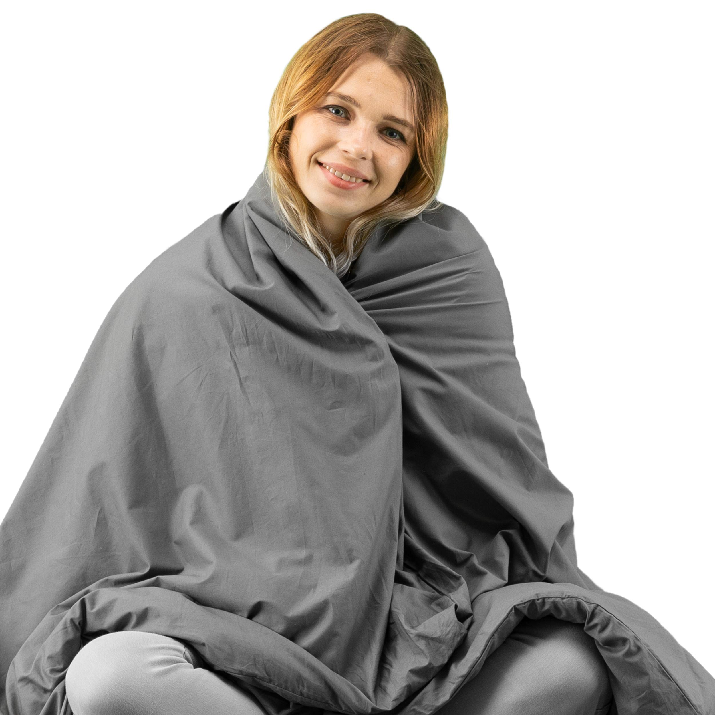 """Winthome Adult Weighted Blanket Queen Size with Cover (59""""x81"""" 23lbs)