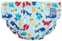 Bambino Mio, Reusable Swim Diaper, Medium (6-12 Months), Deep Sea Blue