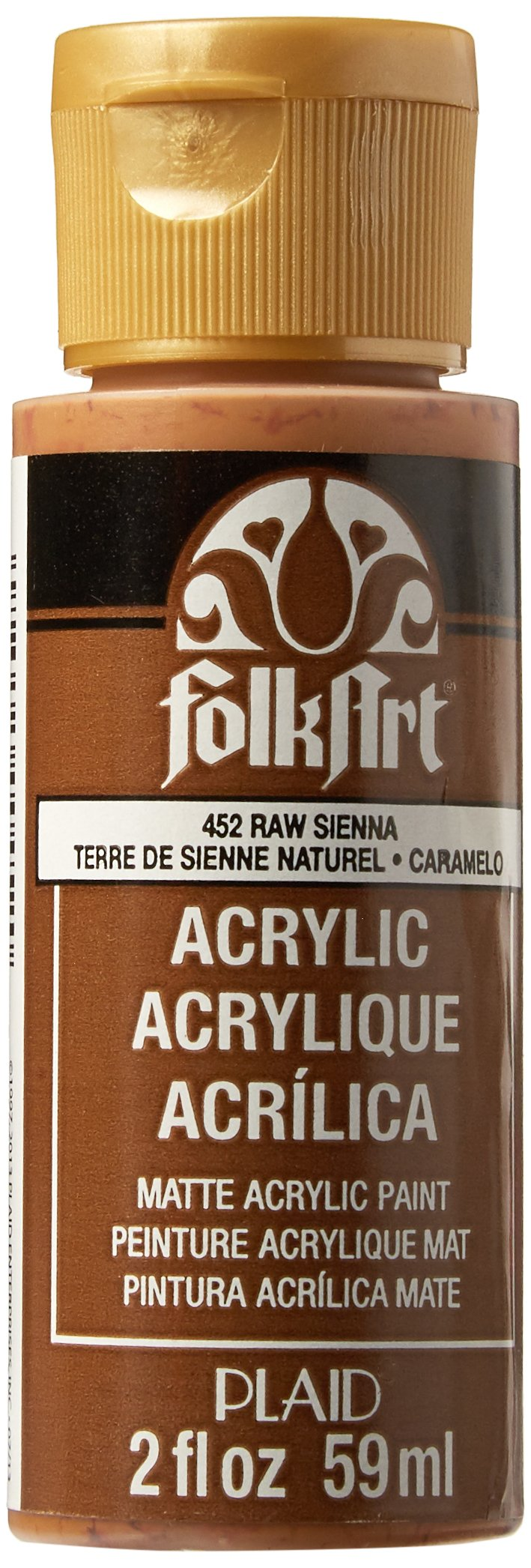 FolkArt Acrylic Paint in Assorted Colors (2 oz), 452, Raw Sienna