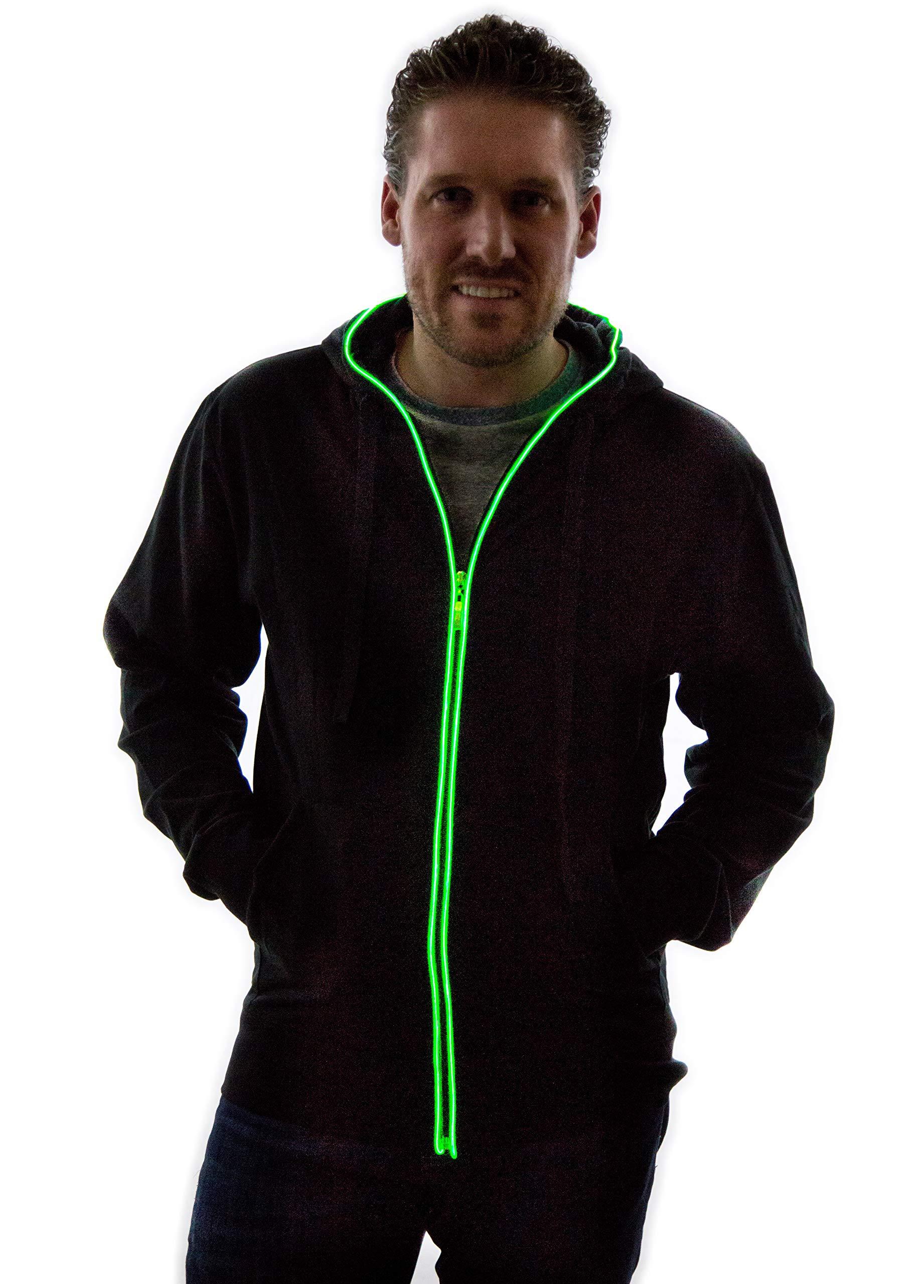 NEON NIGHTLIFE Light Up Hoodie Jacket Sweatshirt