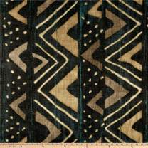P Kaufmann Mali Mudcloth Basketweave Fabric, Midnight, Fabric By The Yard