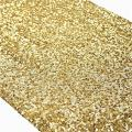 TRLYC Pack of One Wedding 12 by 108-Inch Gold Sequin Tablerunner for Christmas