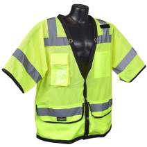 Radians SV59-3ZGD-4X Class 3 Heavy Duty Surveyor Saftey Vest, Green Mesh Solid, 4 Extra large