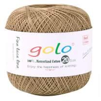 golo Crochet Thread Yarns for Hand Knitting Size 20 Golden Coffer