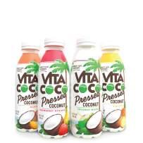 "Vita Coco Coconut Water, Pressed Sampler Pack   More ""Coconutty"" Flavor   Natural Electrolytes   Vital Nutrients   16.9 Oz Slim Bottle (Pack Of 4)"