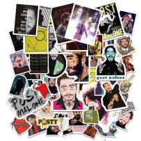 Post Ma_Lone Stickers 50PCS Vinyl Hip-hop Rap Singer Art Work Skateboard Case Bag Hydro Flasks Decals for Boys Cool Laptop Decor