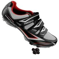 Venzo Cycling Bicycle Cycle Mountain Bike Shoes Men - Compatible with Shimano SPD Cleats - Good for Spin Cycle, Off Road and MTB with Multiple Release Cleats