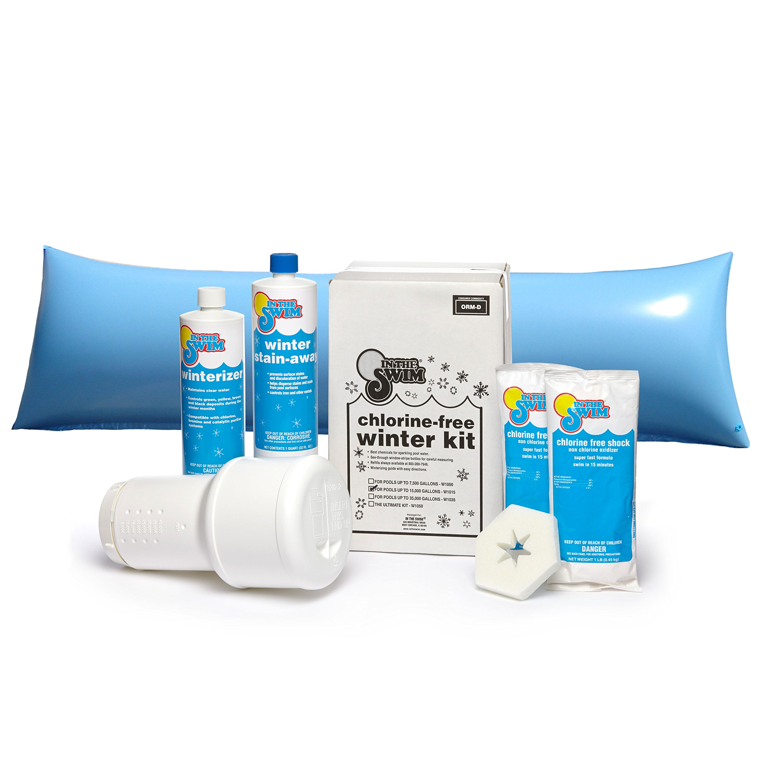 In The Swim Winterizing and Closing Chemical Kit Deluxe Bundle with 4 ½ x 15 Foot Air Pillow