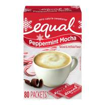EQUAL Peppermint Mocha Zero Calorie Sweetener, Sugar Substitute, 80 Count (Pack of 12)