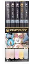 Chameleon Art Products, Chameleon 5-Pen, Pastel Tones Set