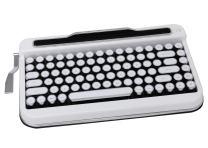 Penna Bluetooth Keyboard with White Chrome Keycap(US Language) (Switch-Cherry Mx Blue, Pure White)