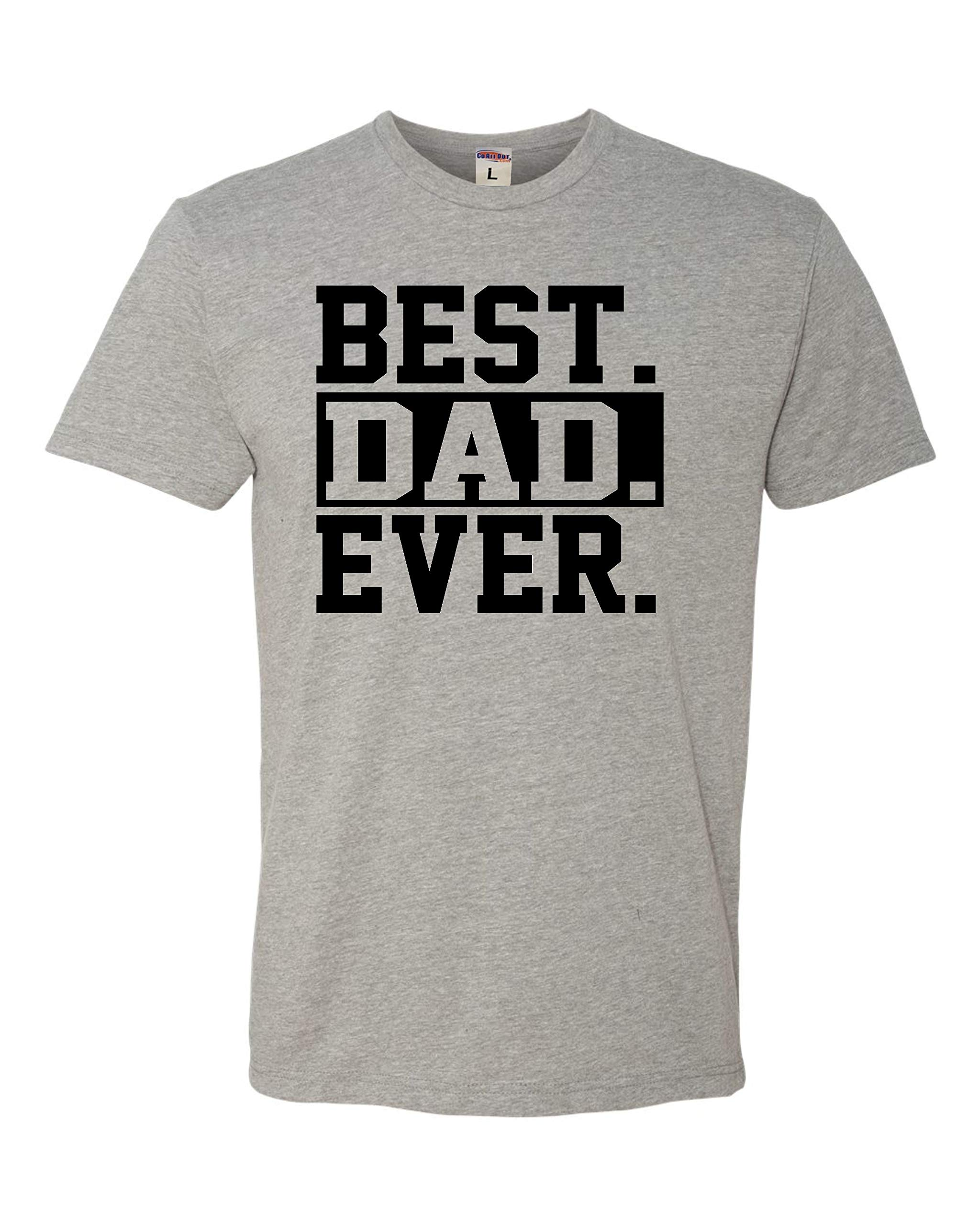 Go All Out Adult Best Dad Ever #1 Dad World's Greatest Dad Fathers Day Deluxe T-Shirt