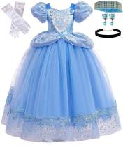 Romy's Collection Skirt Princess Cinderella Costume Girls Dress Up with Accessories