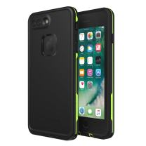 Lifeproof FRē Series Waterproof Case for Iphone 8 Plus & 7 Plus  - (NOT compatible with iPhone 7 & 8) - Retail Packaging - Night Lite (Black/Lime)