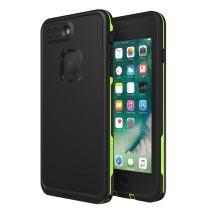 Lifeproof FRē Series Waterproof Case for Iphone 8 Plus & 7 Plus  - Retail Packaging - Night Lite (Black/Lime)