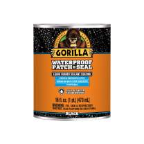 Gorilla Waterproof Patch & Seal Liquid, Black, 16 Ounces, 1 Pack