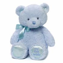 """Baby GUND My First Teddy Bear Stuffed Animal Plush, Blue, 15"""""""