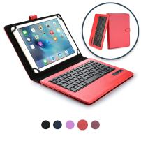 Cooper Infinite Executive Keyboard case Compatible with iPad Pro 9.7, iPad Air 2 1, iPad 4 3 2 | 2-in-1 Bluetooth Wireless Keyboard & Leather Folio Cover | 100HR Battery, 14 Hotkeys (Red)