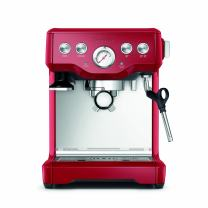 Breville BES840CBXL The Infuser Espresso Machine, Cranberry Red, 1