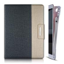 Thankscase Case for iPad 7th Gen 10.2 2019 with Pencil Holder, Soft TPU Case [Compatible with Smart Keyboard], Stand Cover with Hand Strap, Wallet and Card Slots for iPad 10.2 2019 (Black Gold)