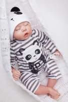 "OtardDolls Reborn Doll 18"" Reborn Baby Doll Lifelike Soft Vinyl Silicone Doll Children Gifts (Panda Fashion)"
